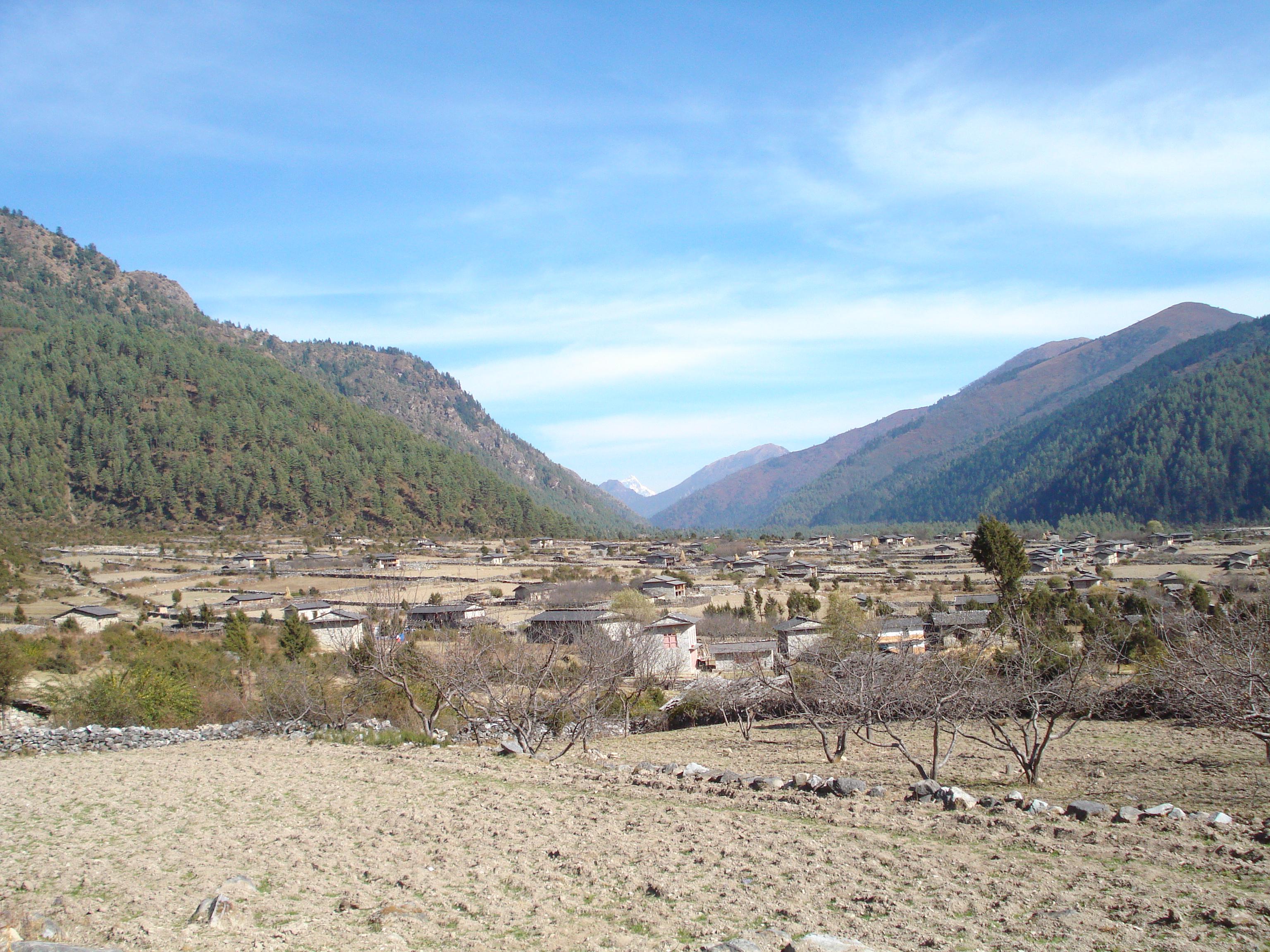 Houses at Dhorpatan